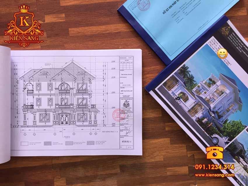 Thiết kế biệt thự 3 tầng đơn lập tại phường Hòa Xuân, TP. Đà Nẵng