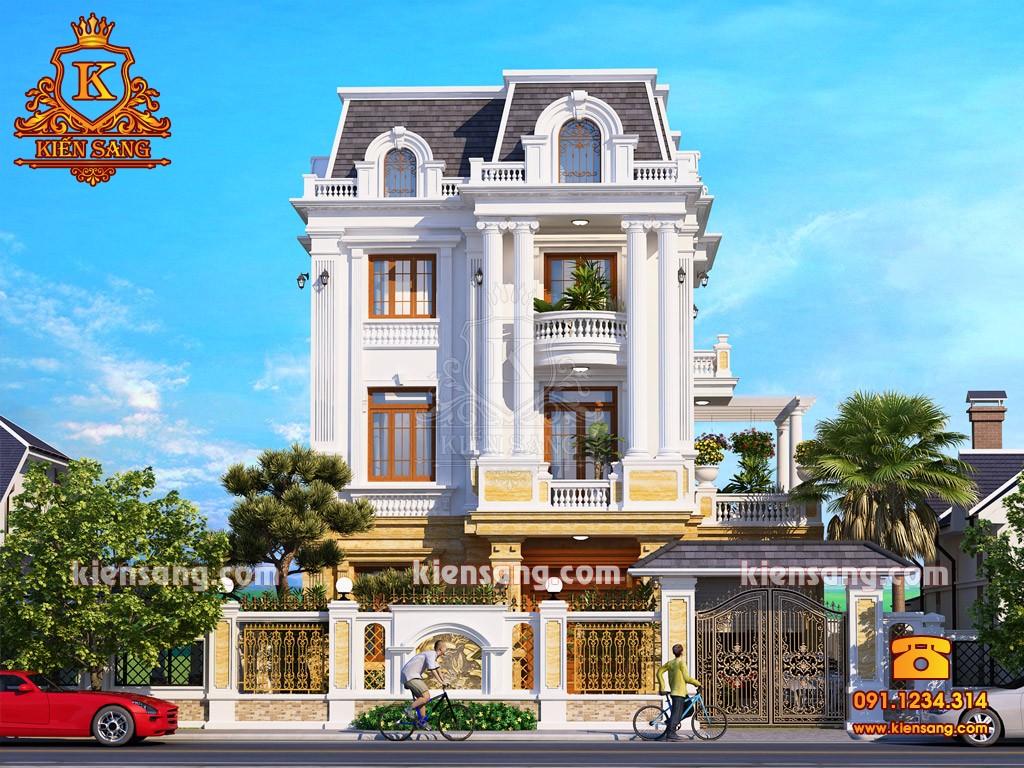 Bản vẽ thiết kế biệt thự tại Bắc Ninh