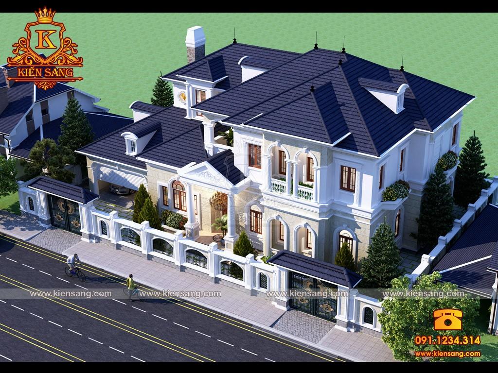 Bản vẽ thiết kế biệt thự tại Tuyên Quang