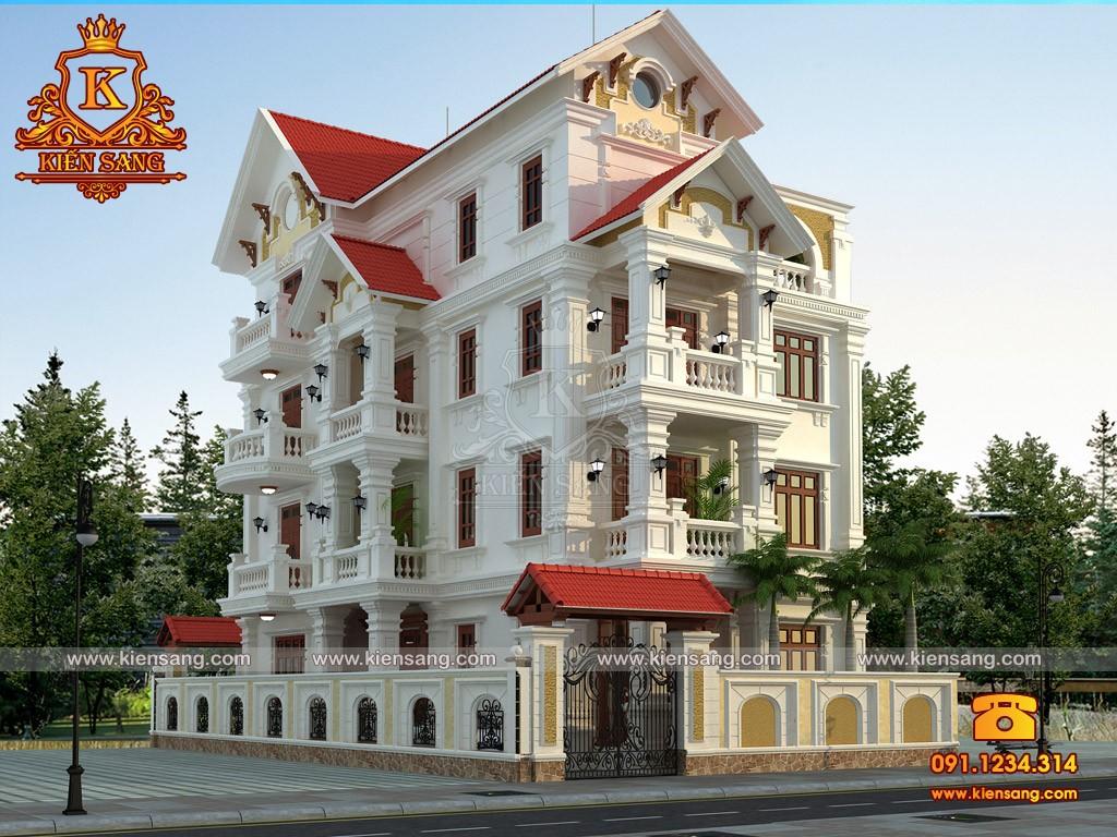 Bản vẽ thiết kế biệt thự tại Thái Bình