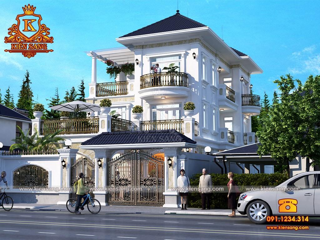 Bản vẽ thiết kế biệt thự tại Huế