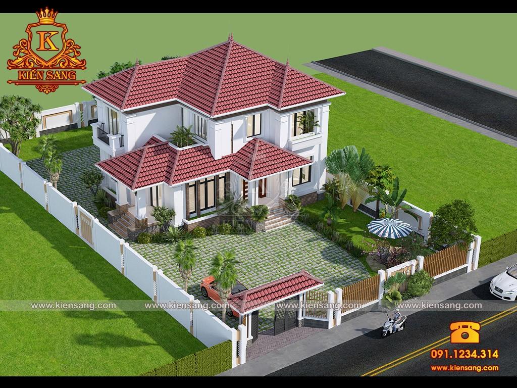Bản vẽ thiết kế biệt thự tại Bình Phước