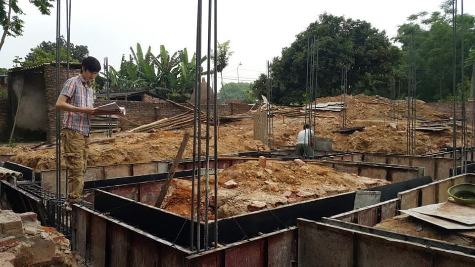 Giám sát thi công biệt thự 1 tầng nhà Anh Hùng tại Bắc Giang