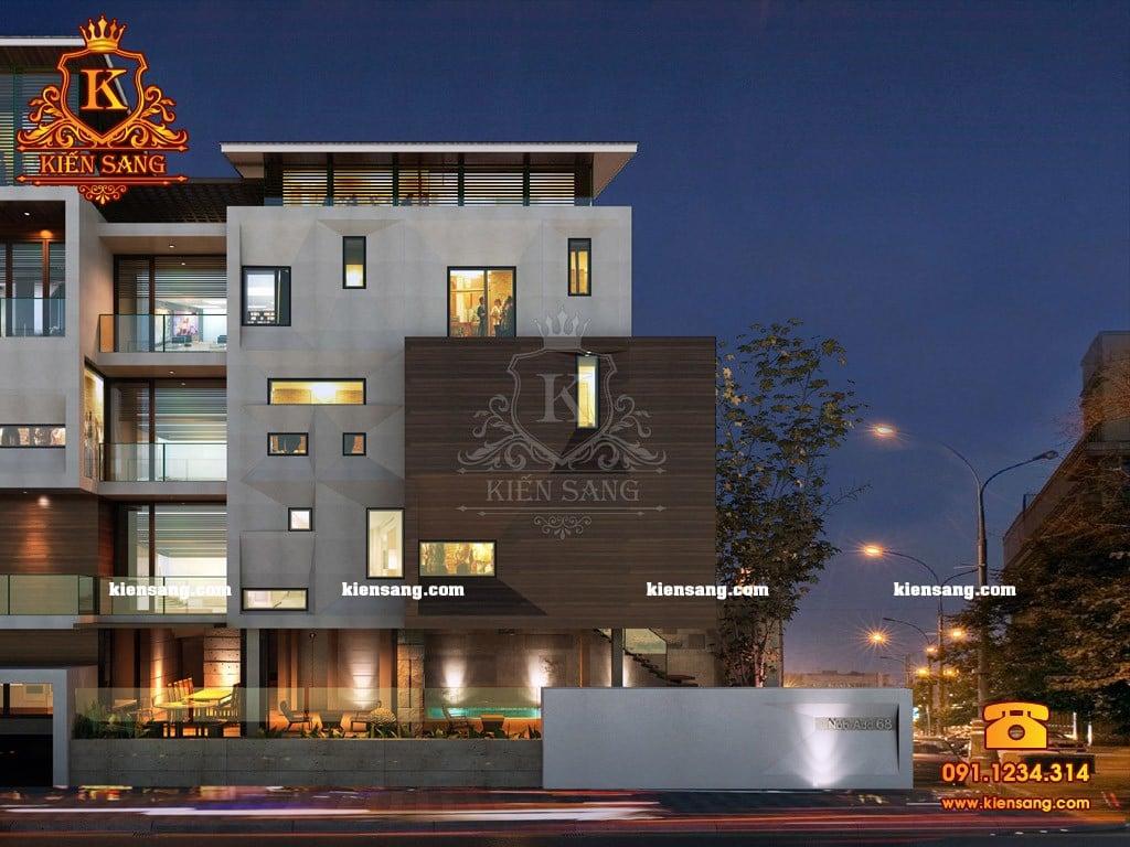 Mẫu biệt thự hiện đại 4 tầng đẹp như mơ