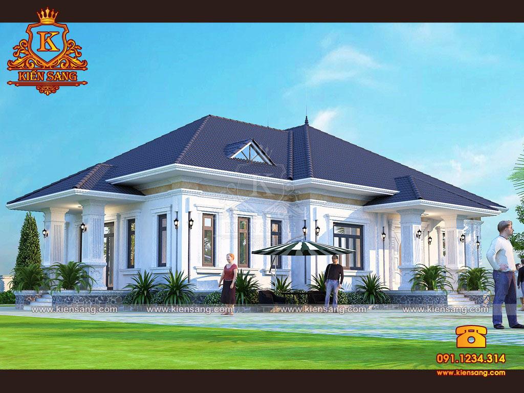 TOP 5 mẫu thiết kế nhà 1 tầng đẹp 3 phòng ngủ tại Hà Nội