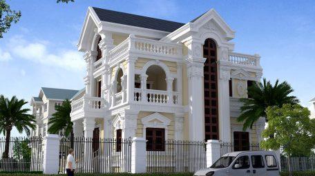 Mẫu thiết kế biệt thự tân cổ điển 2 tầng đẹp
