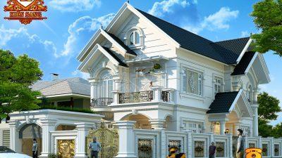 Hỏi giá xây dựng biệt thự 2 tầng Kiểu Châu Âu