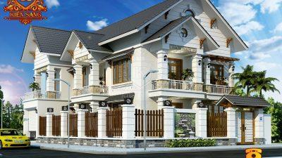 Hỏi giá xây dựng biệt thự 2 tầng Kiểu Pháp