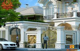 Hỏi xin mẫu biệt thự 2 tầng mái Thái đẹp