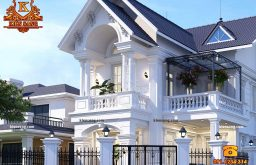 Mẫu nhà biệt thự 2 tầng tân cổ điển đẹp nhất 2018