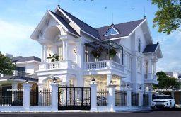 Mẫu thiết kế biệt thự 2 tầng 5 phòng ngủ siêu đẹp