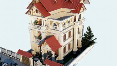 Mẫu thiết kế biệt thự 3 tầng 1 tỷ đẹp