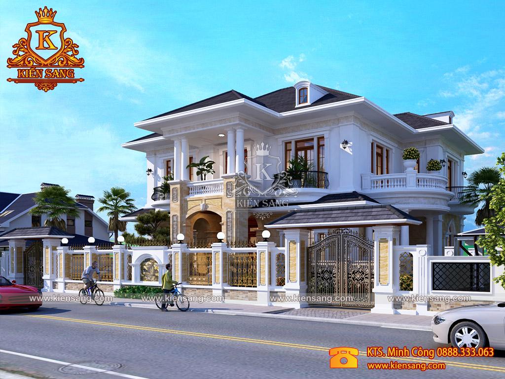 Bàn giao hồ sơ thiết kế biệt thự 2.5 tầng tại Hà Nội