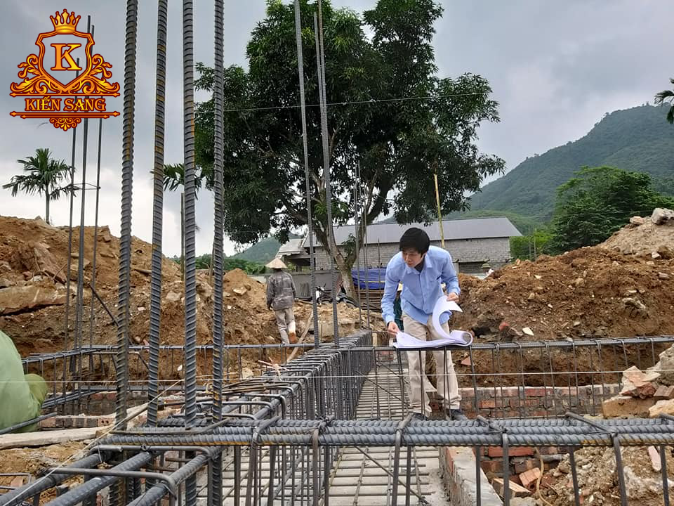 Giám sát thi công phần kết cấu móng biệt thự tại Yên Bái
