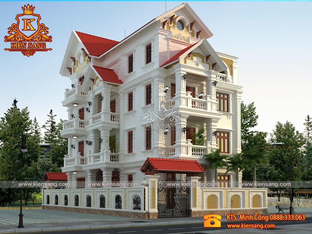 Bàn giao hồ sơ bản vẽ biệt thự 4 tầng tại Bắc Ninh