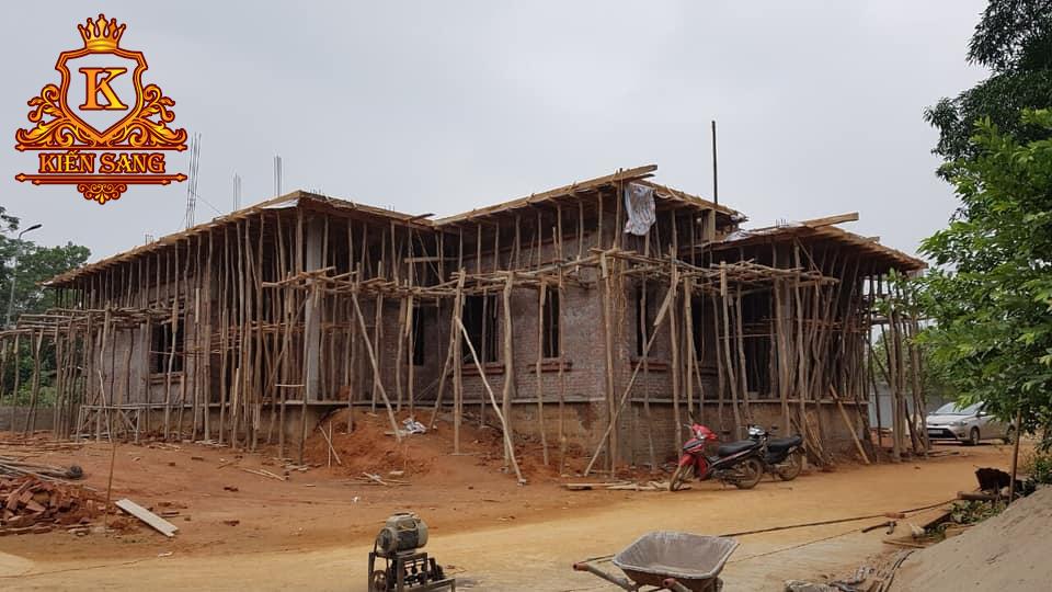 Cập nhật tiến độ xây dựng biệt thự 2 tầng tại Yên Bái