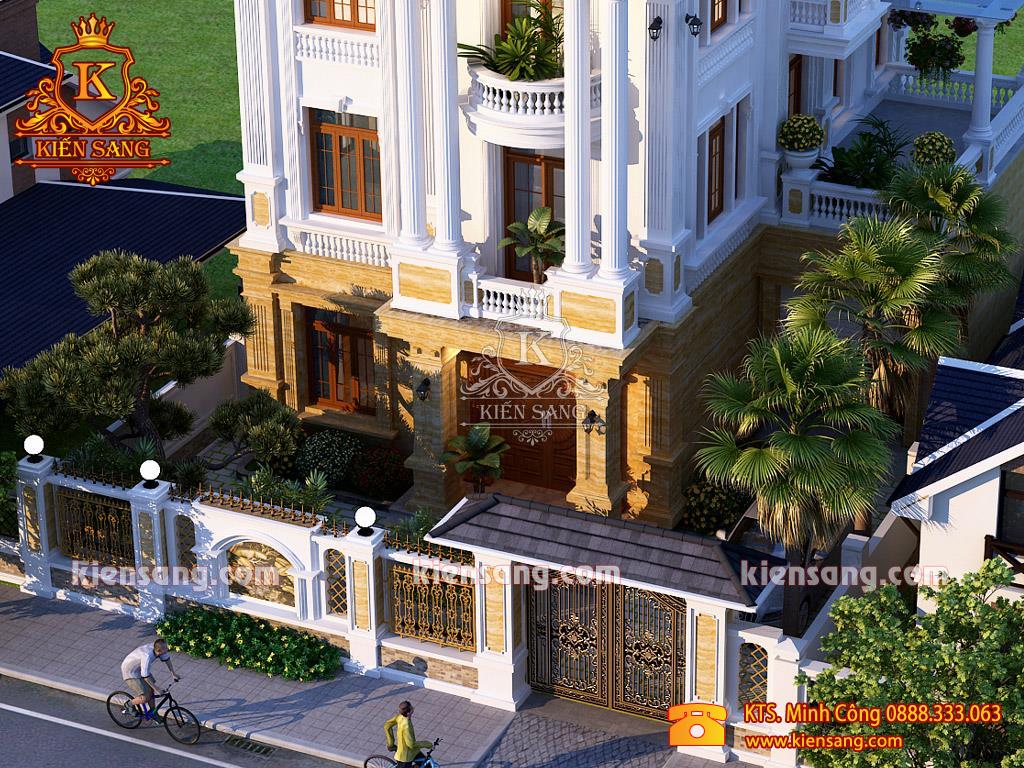 Mẫu biệt thự 3 tầng tân cổ điển siêu đẹp tại Thái Nguyên