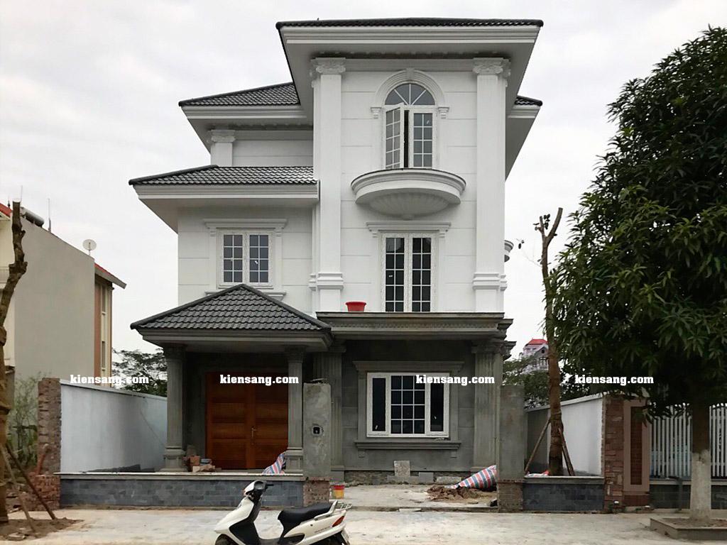 Công trình xây nhà biệt thự 3 tầng trọn gói tại Bắc Ninh