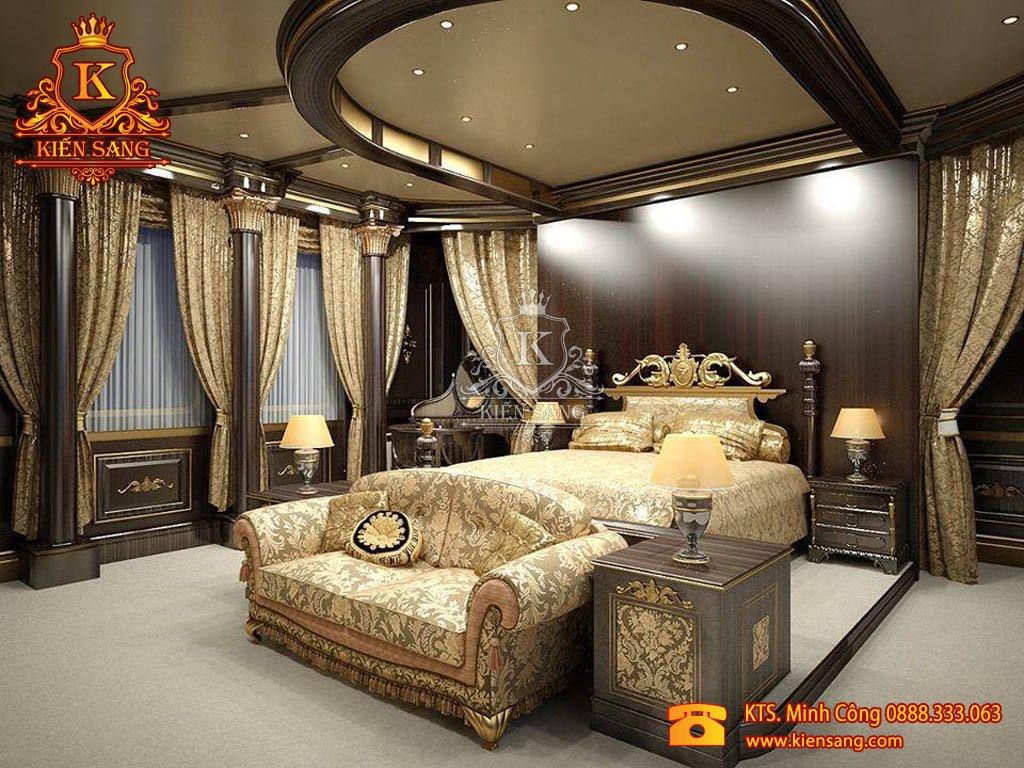 phòng ngủ cổ điển châu âu