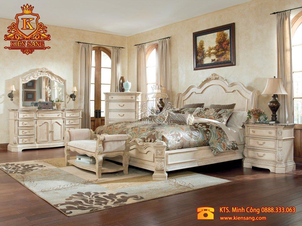 thiết kế phòng ngủ cổ điển