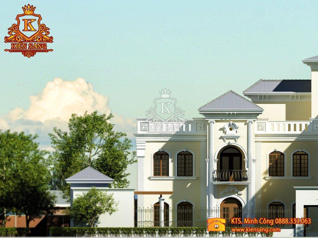 Mẫu biệt thự tân cổ điển 2 tầng đẹp cho năm 2018