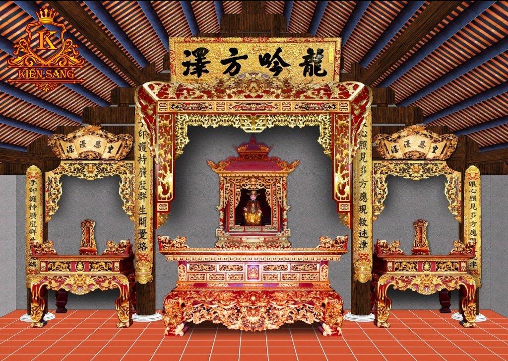 nội thất phòng thờ tân cổ điển đẹp
