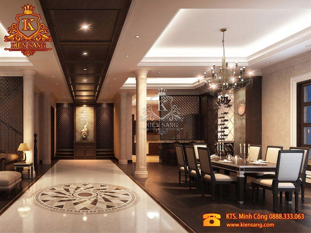 Thiết kế biệt thự 1 tầng tại Hoàng Mai