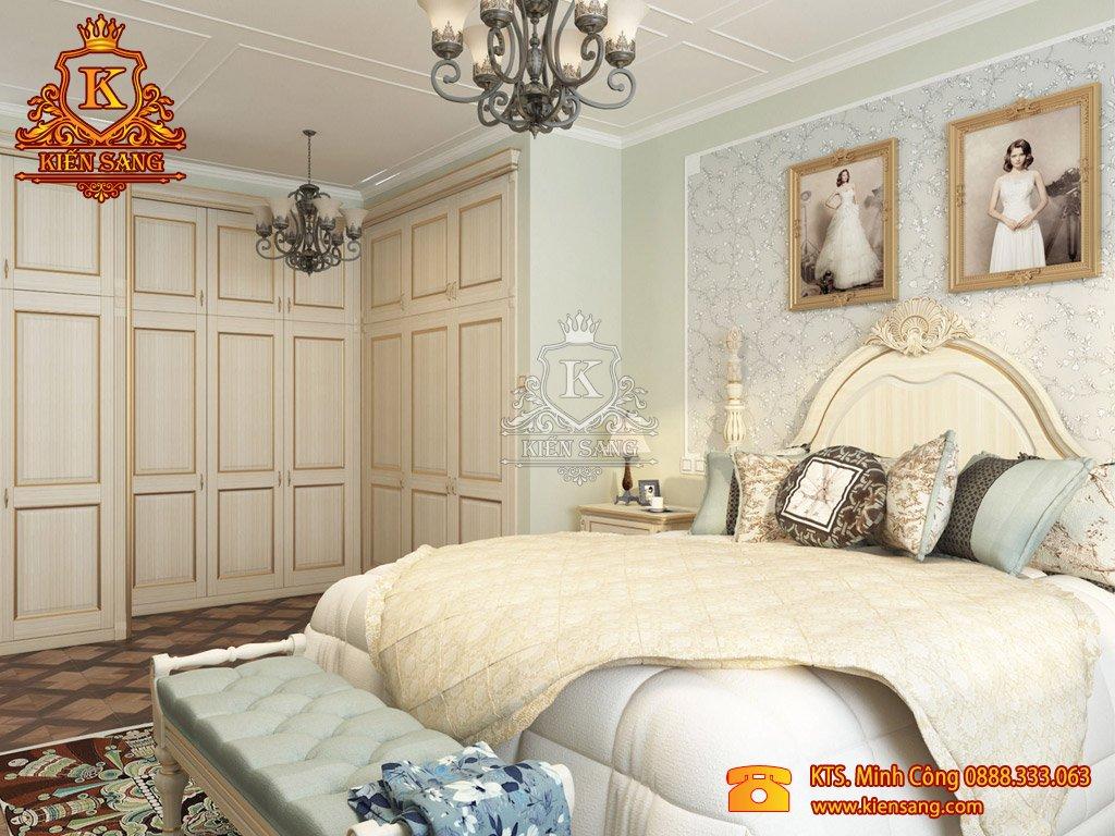 Mẫu thiết kế nội thất phòng ngủ biệt thự đẹp