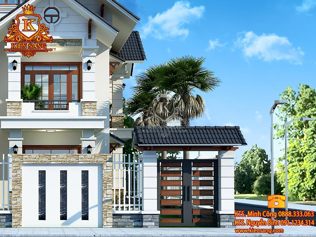 Biệt thự 2 tầng tân cổ điển tại Long Biên