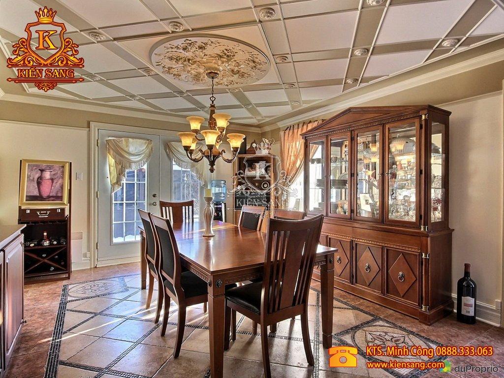 Mẫu thiết kế nội thất phòng ăn nhà phố đẹp