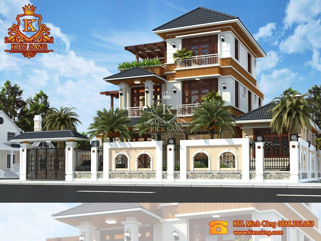 Mẫu thiết kế cải tạo nhà Biệt thự 3 tầng tân cổ điển