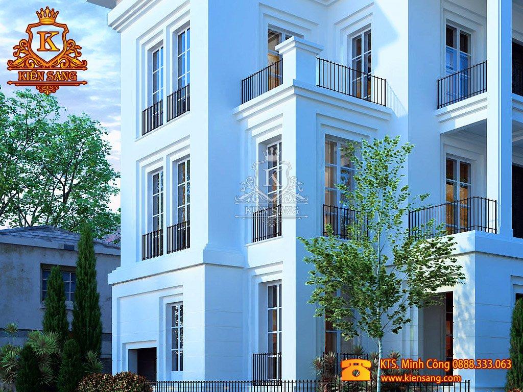 Biệt thự 3 tầng tân cổ điển song lập