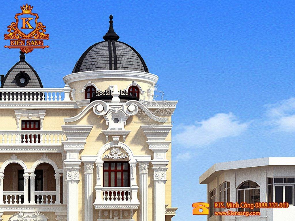 Nhà phố 4 tầng cổ điển tại Vĩnh Phúc