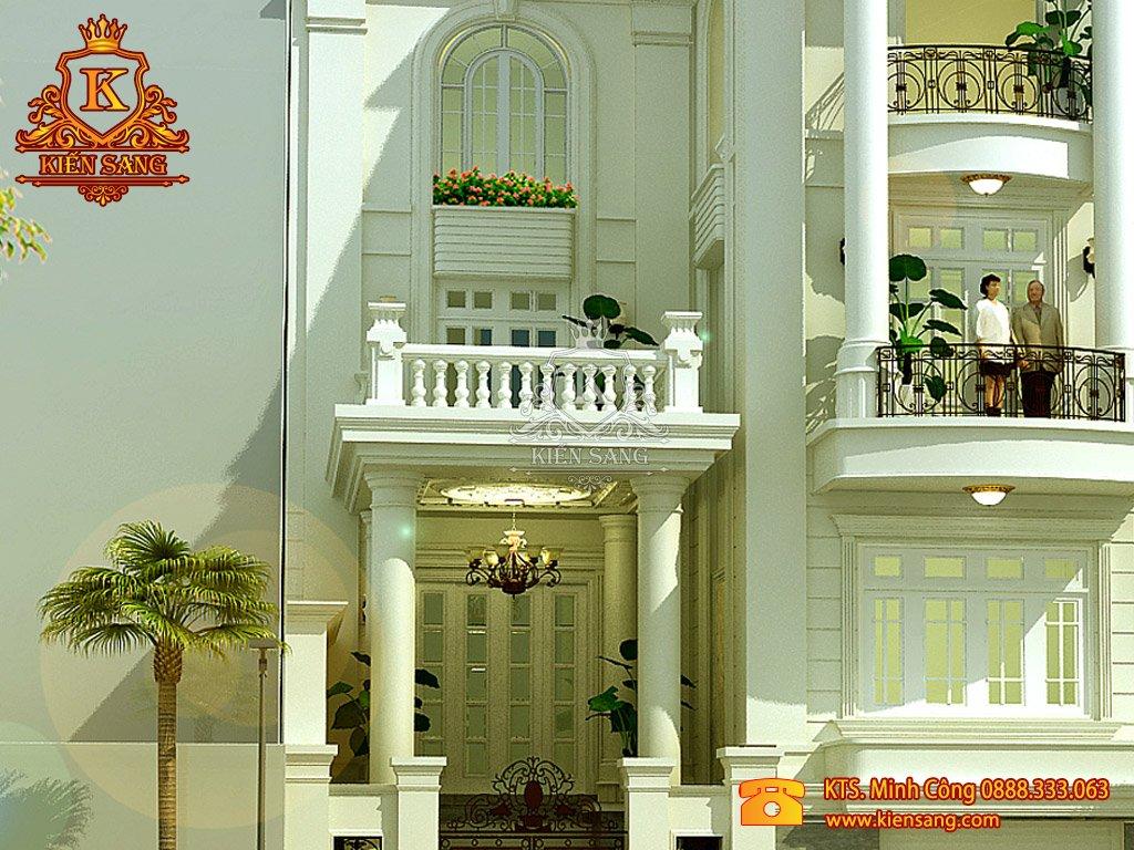 Biệt thự 5 tầng tân cổ điển tại Long biên