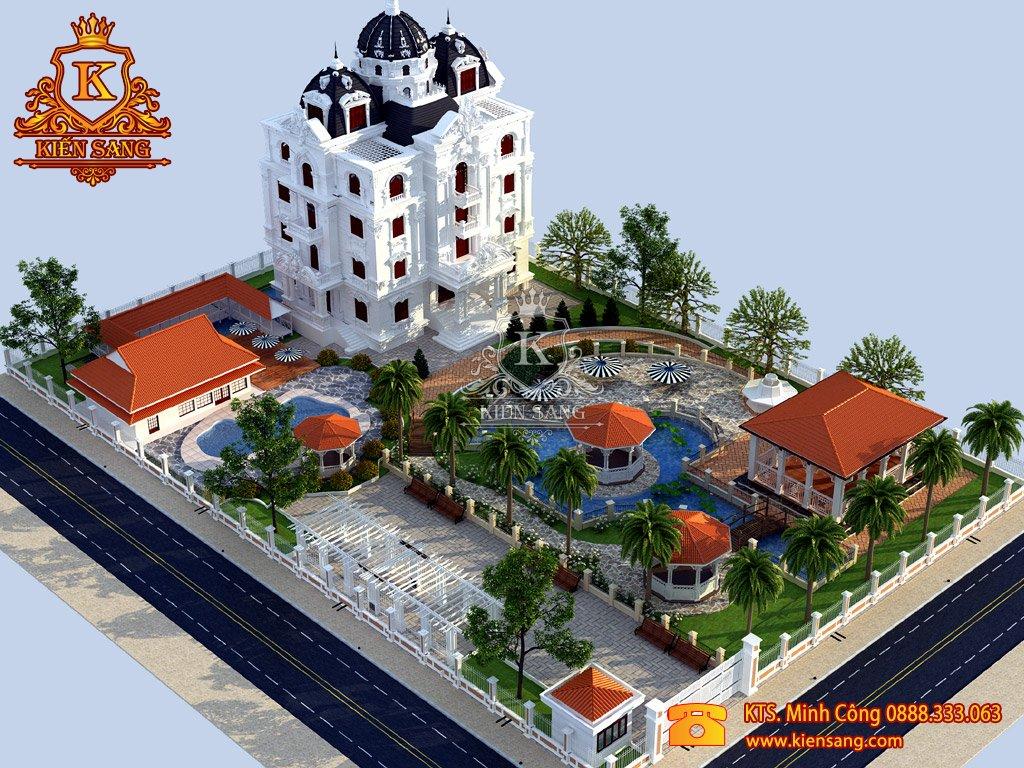 Biệt thự 5 tầng cổ điển tại Thanh Xuân