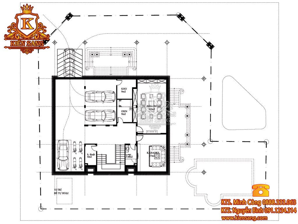 Biệt thự 5 tầng cổ điển tại Từ Liêm