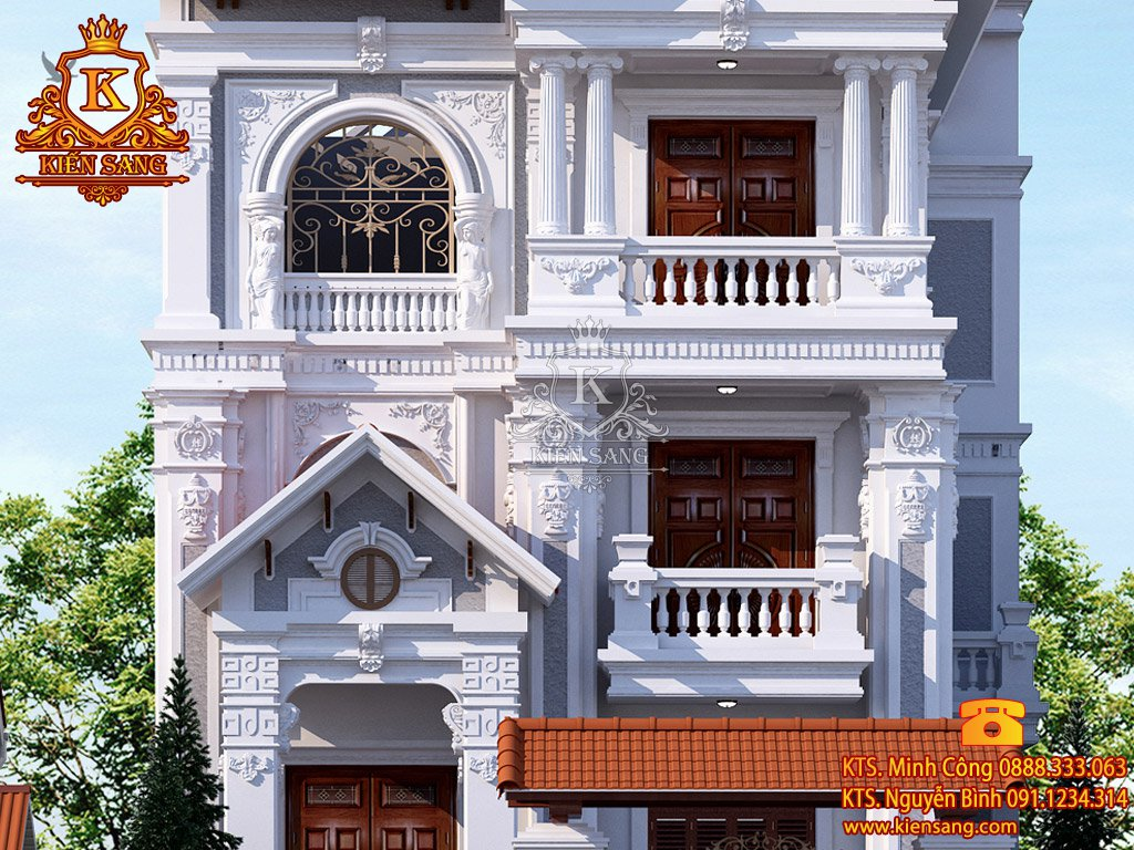 Biệt thự 3 tầng cổ điển tại Bắc Giang