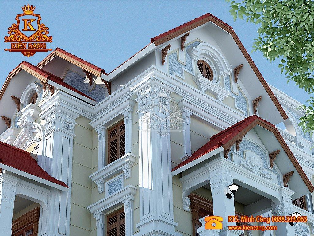 Biệt thự 3 tầng cổ điển tại Vĩnh Phúc