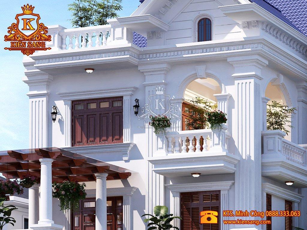 Biệt thự tân cổ điển 3 tầng đẹp năm 2018