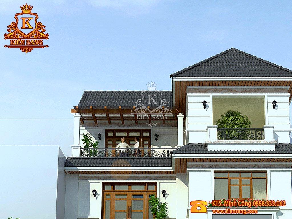 Biệt thự 5 tầng cổ điển kiểu Mái Thái