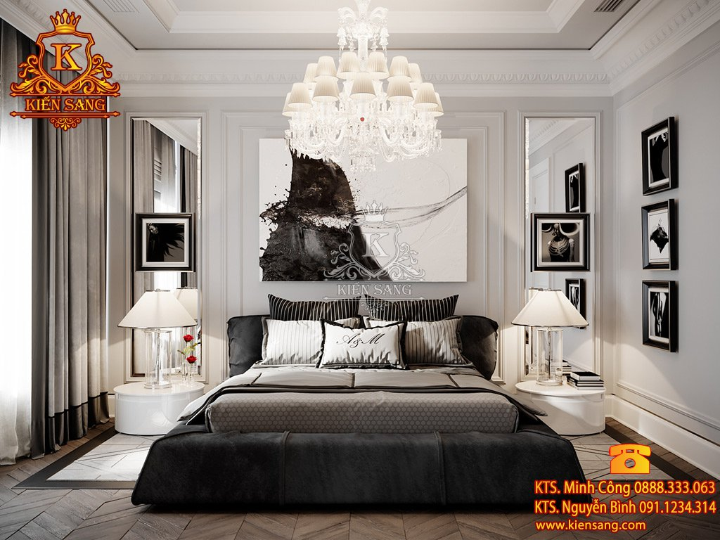 Mẫu thiết kế nội thất phòng ngủ khách sạn 5 sao
