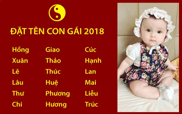 Hướng dẫn đặt tên con gái sinh năm 2018 theo phong thủy