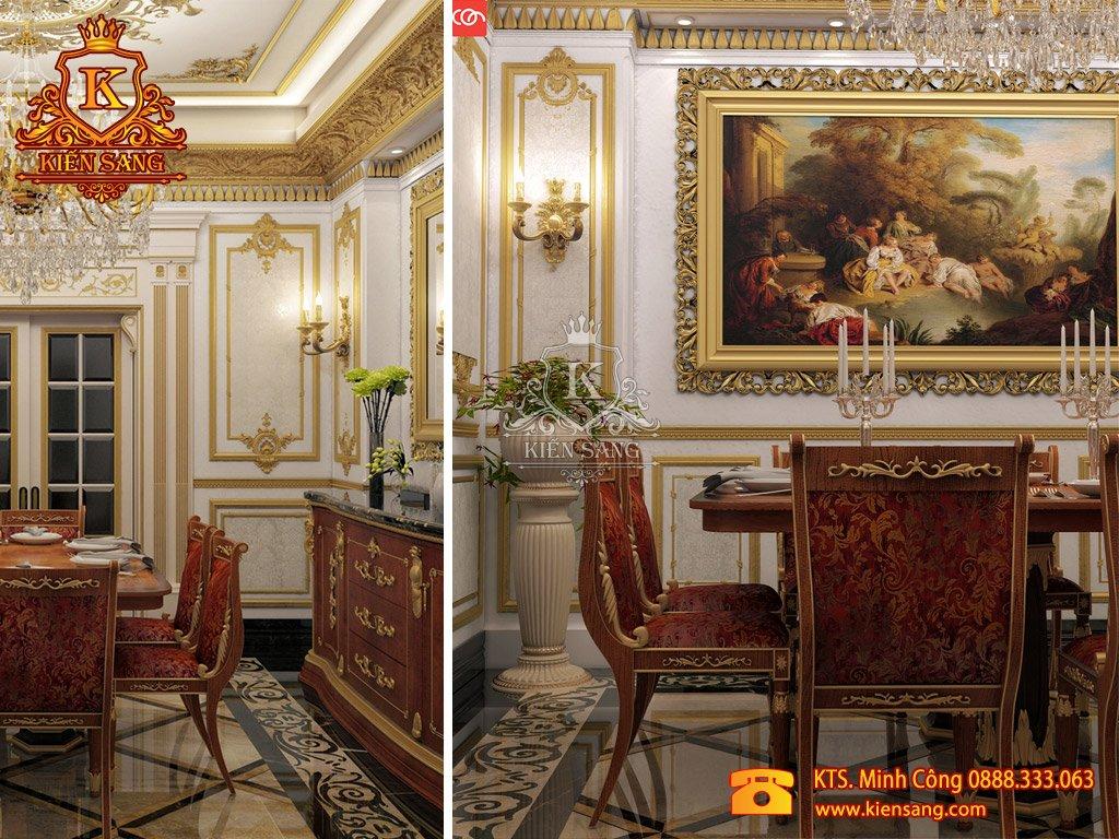 Nội thất biệt thự tân cổ điển tại Phú Thọ