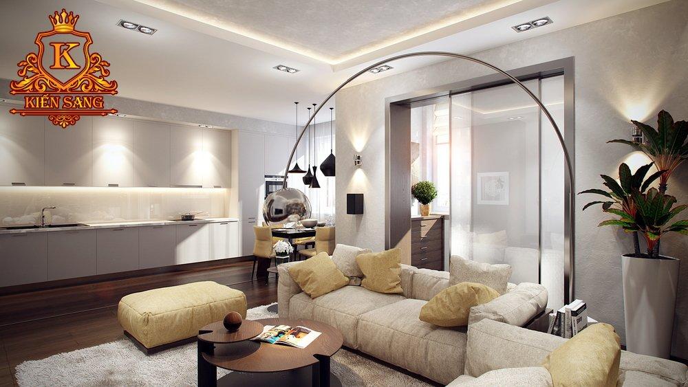Nội thất chung cư tân cổ điển tại Hoàn Kiếm