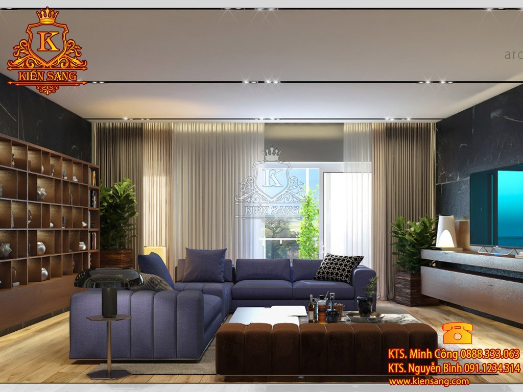 Nội thất chung cư hiện đại tại Ba Đình
