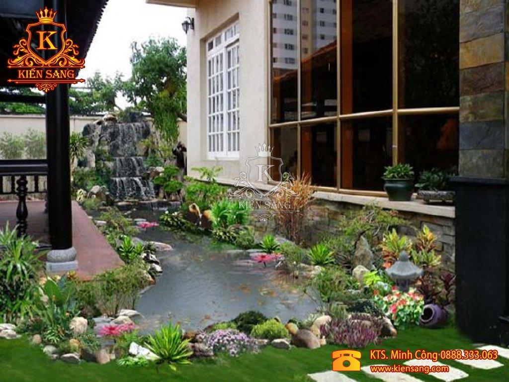 Tiểu cảnh sân vườn tại Mê Linh