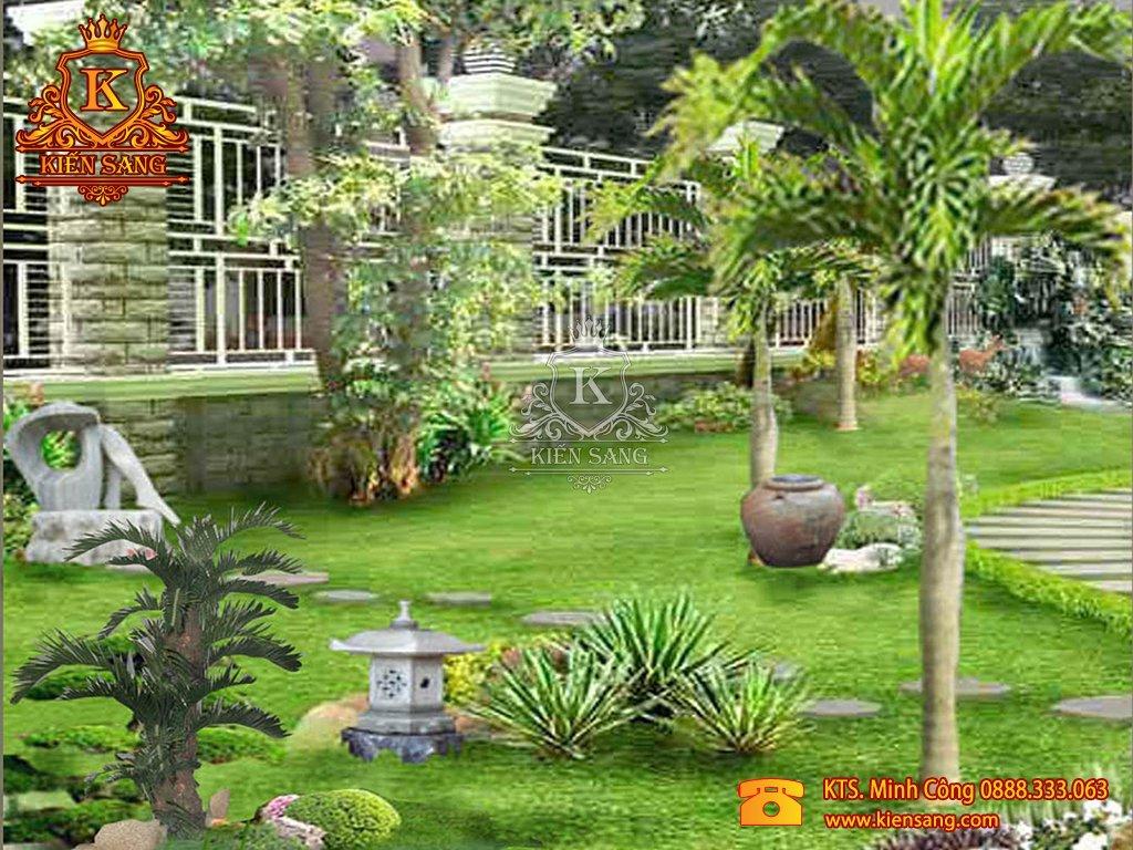 Tiểu cảnh sân vườn tại Bắc Từ Liêm