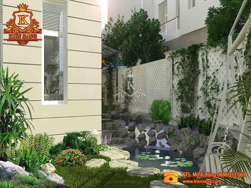 Tiểu cảnh sân vườn tại Hoàn Kiếm