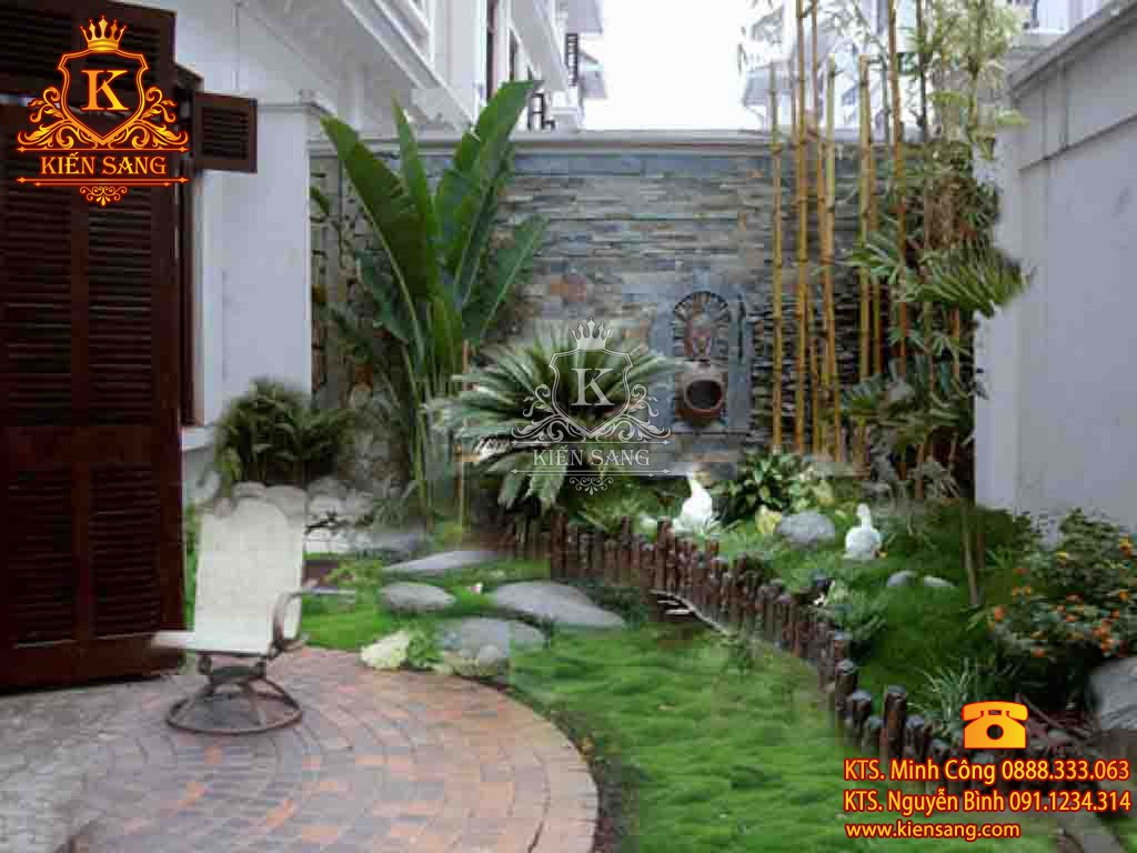 Tiểu cảnh sân vườn tại Gia Lâm