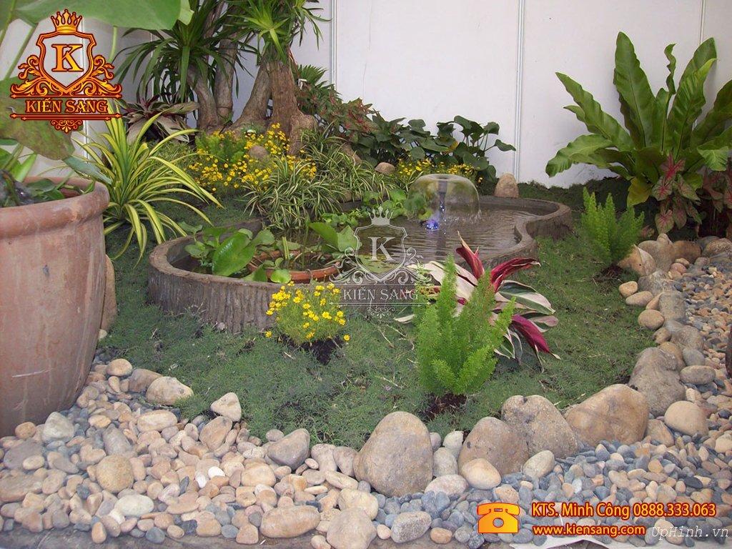 Tiểu cảnh sân vườn tại Thạch Thất